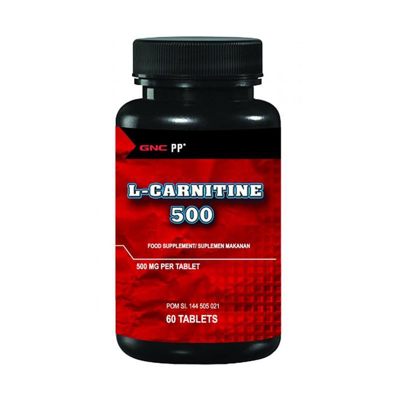GNC Live Well PP L-Carnitine 500 Salut Selaput Suplemen [60 Tablet/ 987412