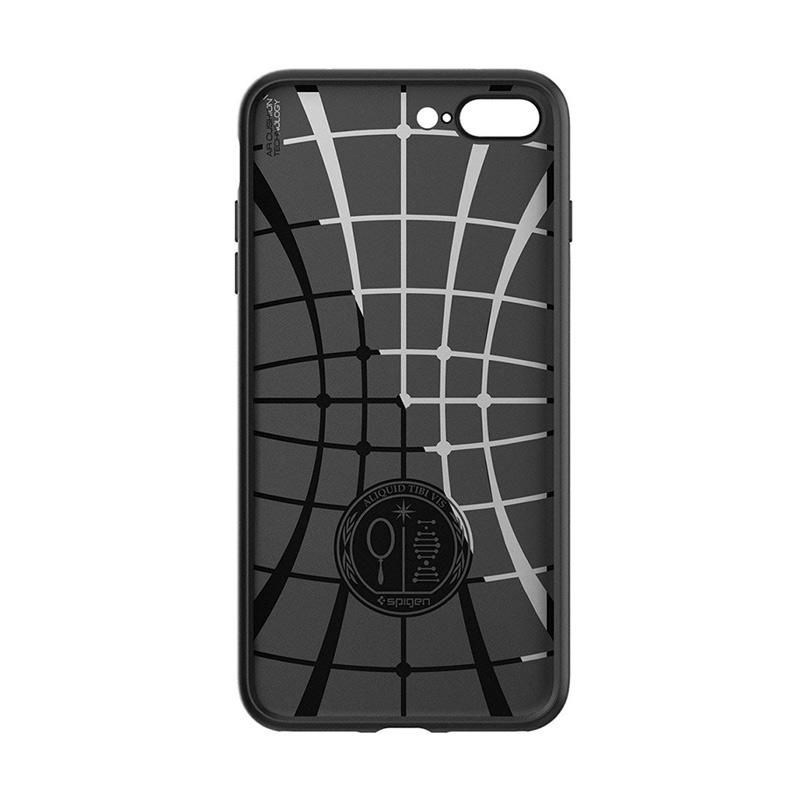 super popular 21b76 ac4f2 Spigen Liquid Armor Case Casing for iPhone 8 Plus / iPhone 7 Plus - BLACK