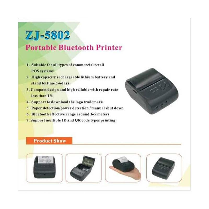 ZJIANG ZJ-5802 Bluetooth Mini Printer Thermal