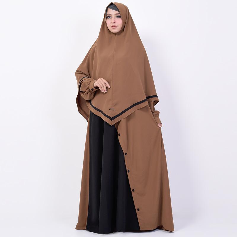 Jual Queenza By Zayidan Set Khimar Syar I Busui Gamis Muslim Wanita Maryam Coklat Online November 2020 Blibli