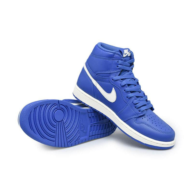 NIKE Men Basketball Air Jordan 1 Retro High OG Sepatu Basket Pria Hyper Royal Sail [555088 401]