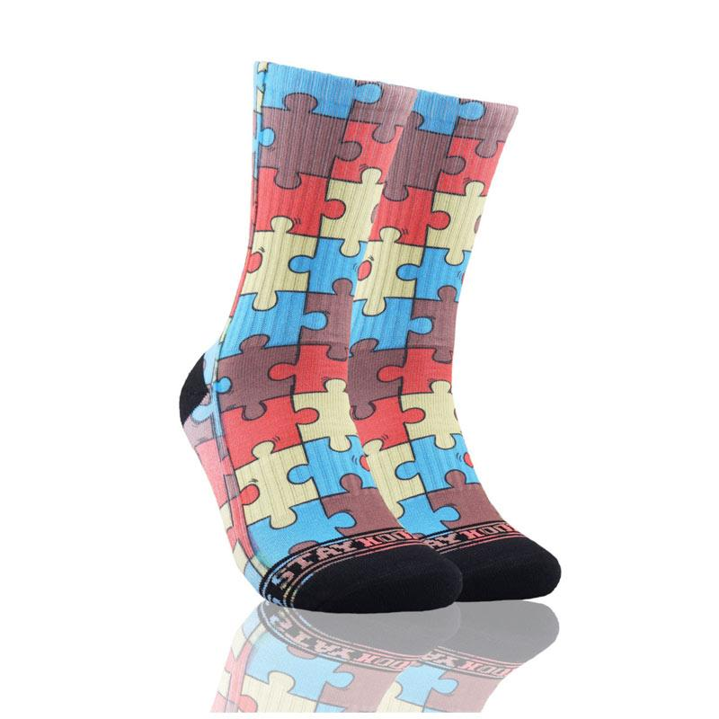 Stayhoops Puzzle 2 Kaos Kaki Olahraga Basket Multicolor