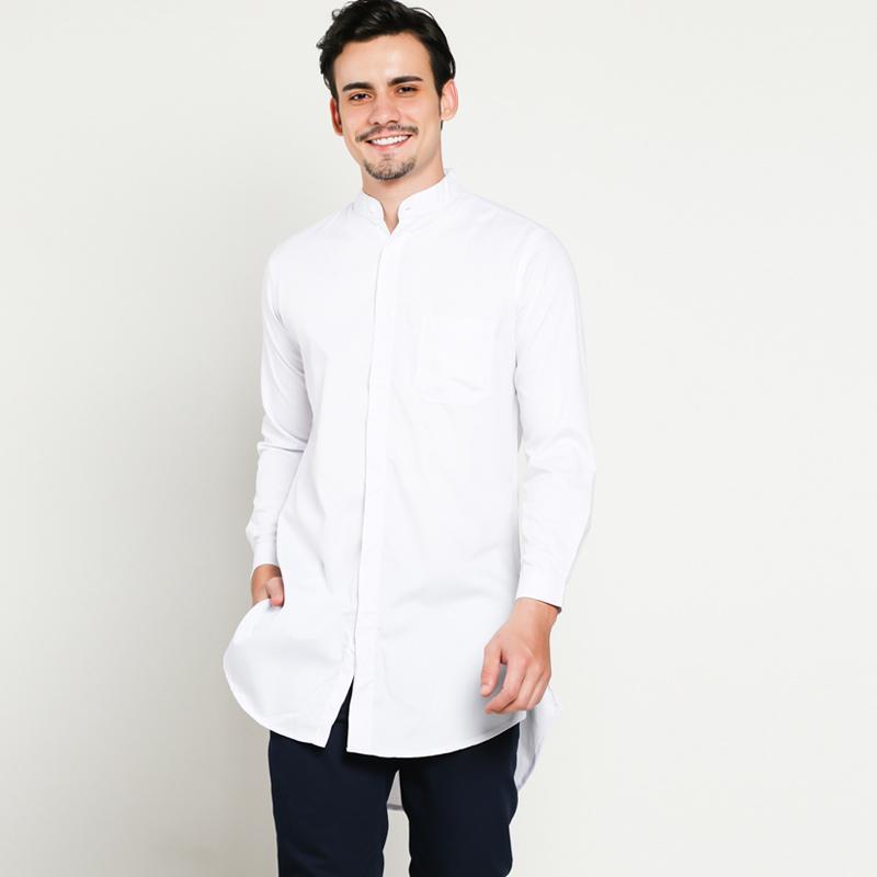 Jual VM Polos Gamis Baju Koko Muslim Pria - Putih Online Desember 2020    Blibli