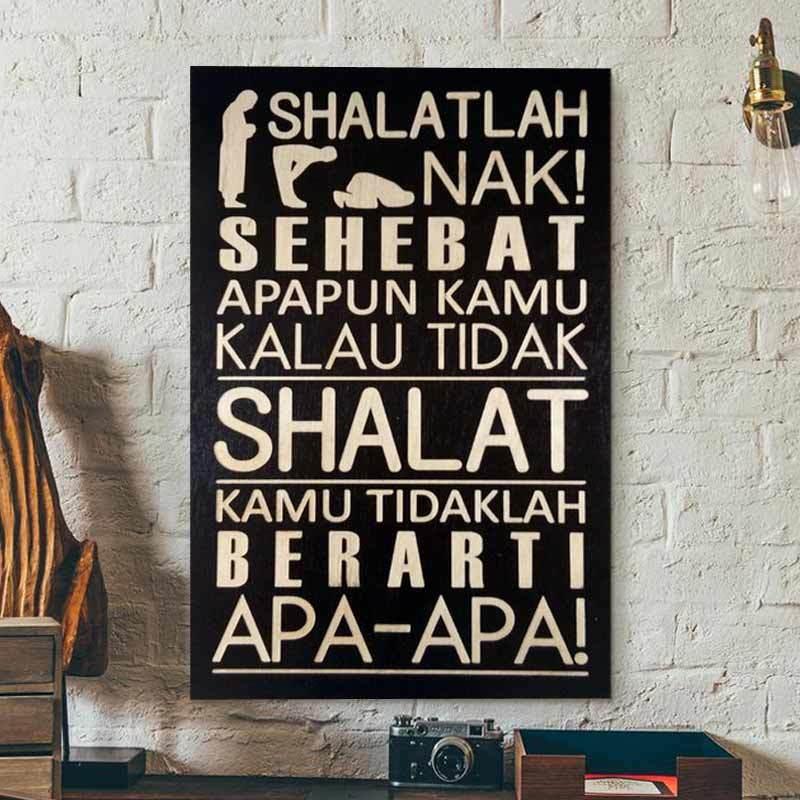 Jual Swc Pis30 021 Motivasi Islami Poster Kayu Hiasan Dinding 20 X 30 Cm Online November 2020 Blibli