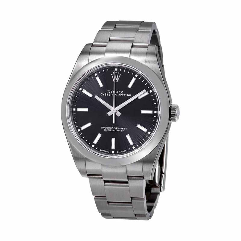 Rolex Oyster Perpetual Black Dial Automatic Men s Watch
