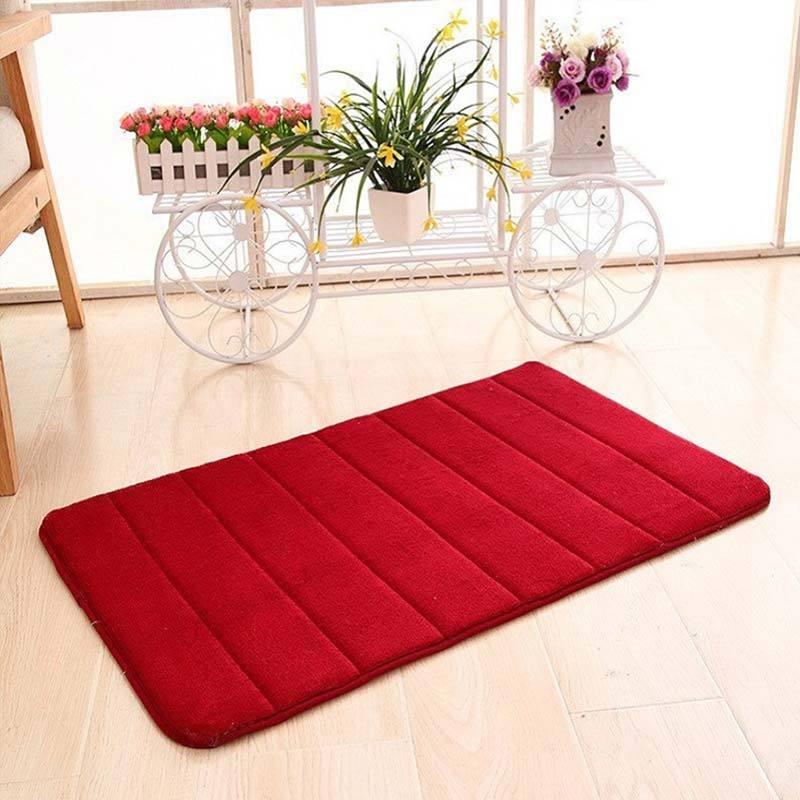 Custom Non-Slip Diamond Skull Bathroom Floor Mat Bath Rug Soft Carpet Rug