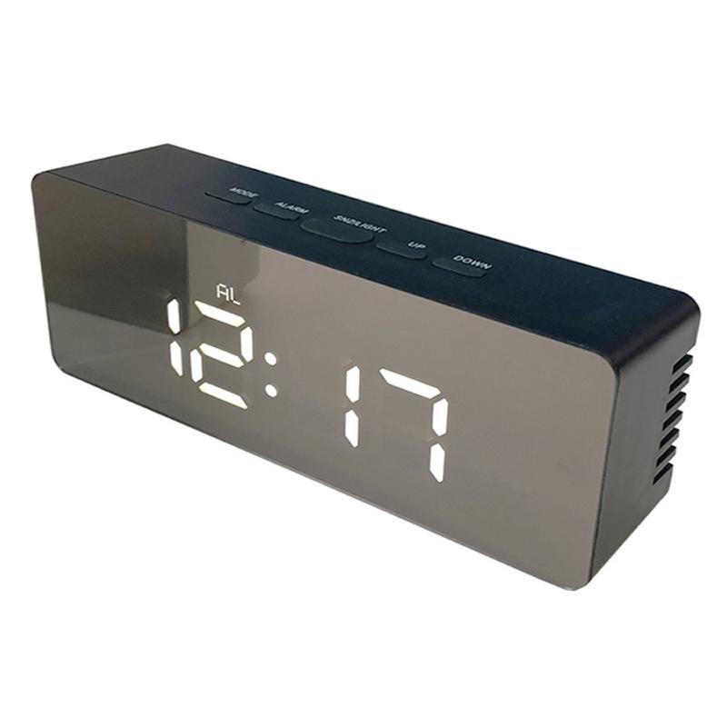 Jual H Ikea Rectangle Led Mirror Alarm Clock Digital Snooze Time