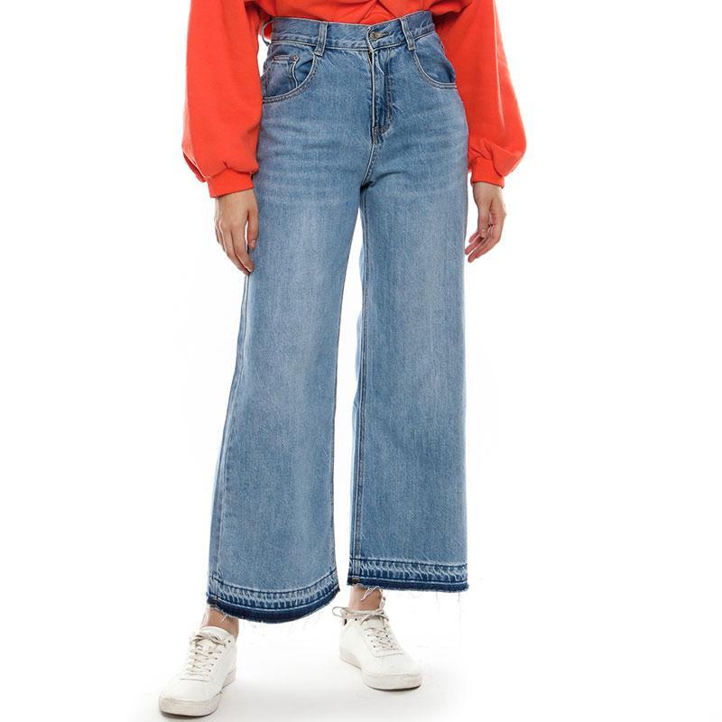 BLYTHE 6221 Mom Light Wash Denim Celana Jeans Wanita Blue