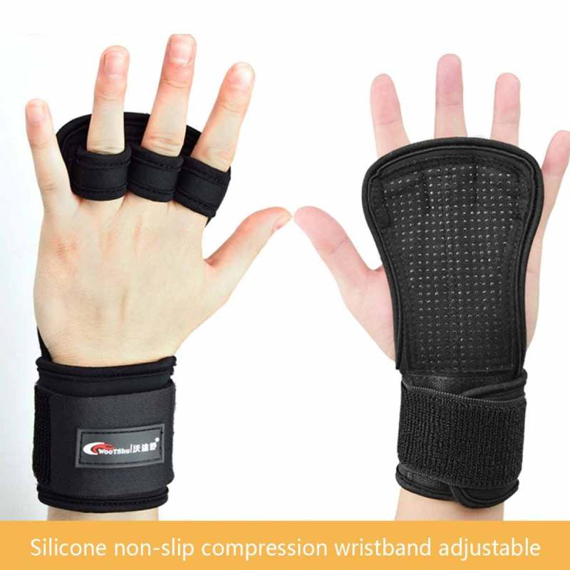 CN/_ Four Finger Women Workout Gloves Fitness Gym Exercise Hand Palm Protector