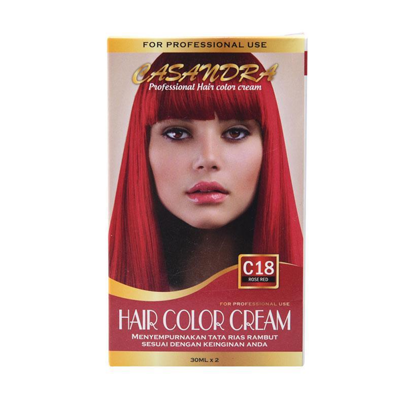 Casandra C18 Hair Color Cream - Rose Red