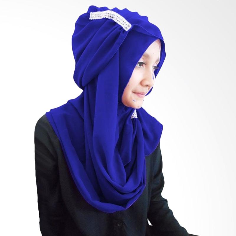 Milyarda Ring Hijab - Biru Tua