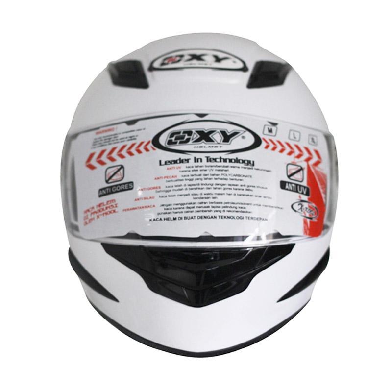 harga OXY Mars Solid Helm Full Face - White Blibli.com