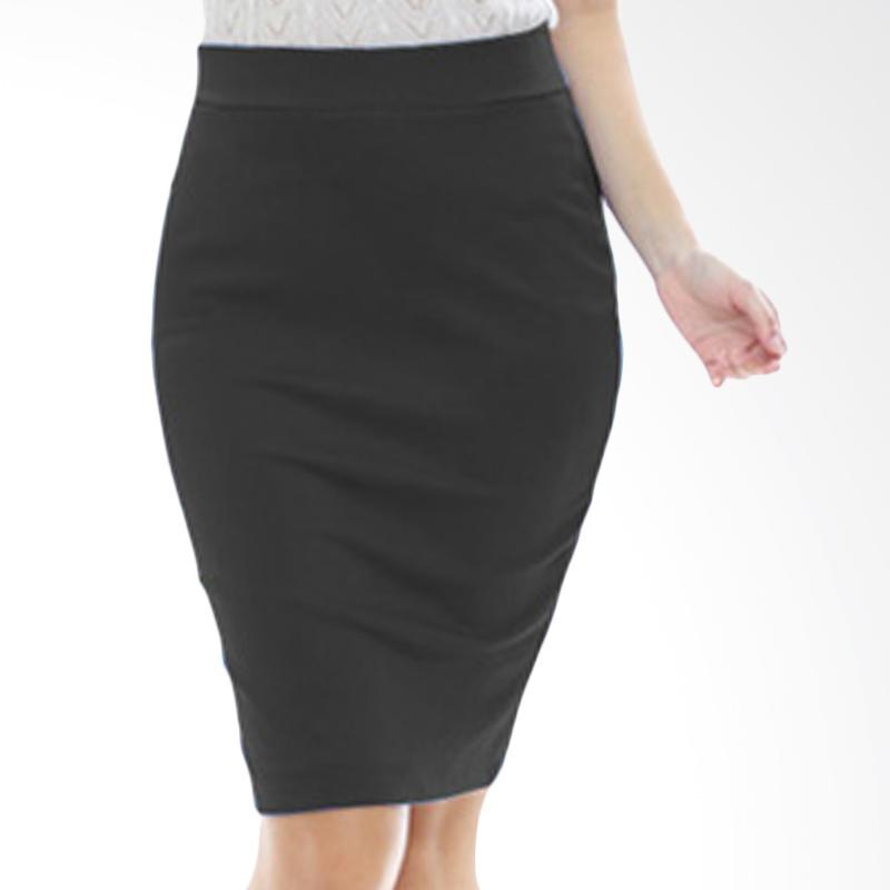 harga Rasya Rok Wedges Pencil Pendek Skirt - Black Blibli.com