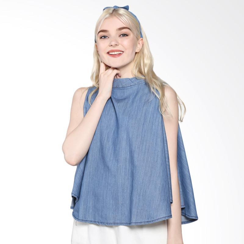 Rodeo 817.0221.BLU Blouse Shirt Denim - Blue