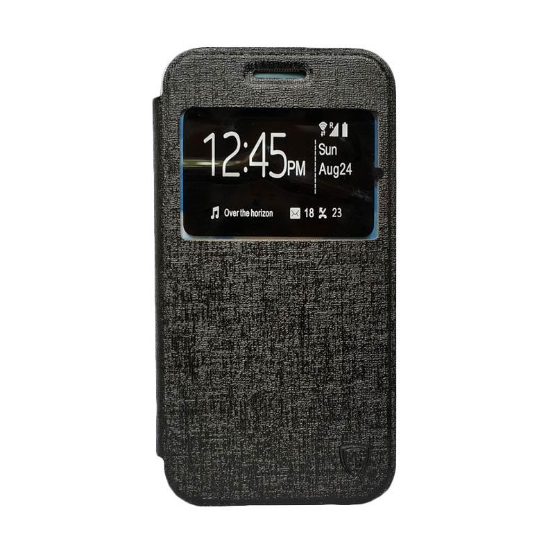 Zagbox Flip Cover Casing for Huawei Y5 -  Hitam