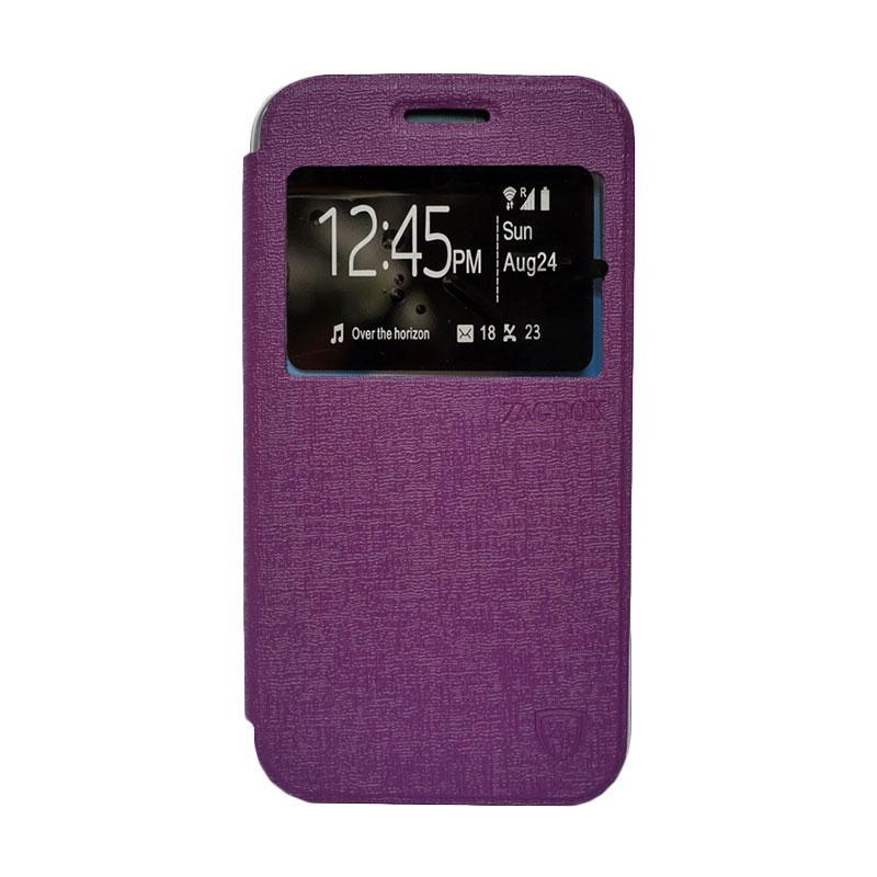 Zagbox Flip Cover Casing for Lenovo A7000 - Ungu
