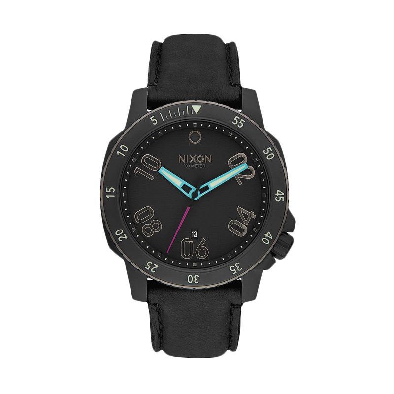 NIXON Ranger Leather Jam Tangan Pria A5081320 - Black