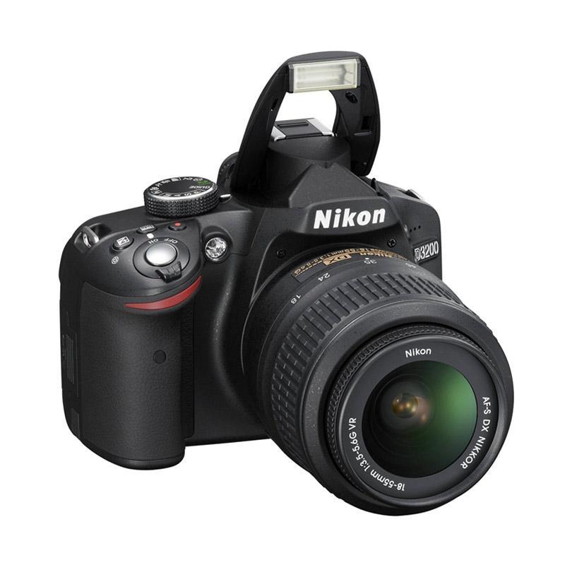 Nikon D3200 Kit AF-S 18-105mm VR DX Zoom Kamera DSLR - Black
