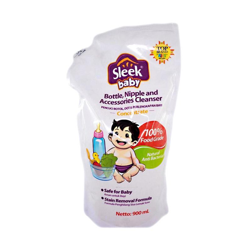 harga SLEEK Baby Bottle Nipple Accessories Cleanser Sabun Cuci Pencuci Botol Refill 900ML Blibli.com