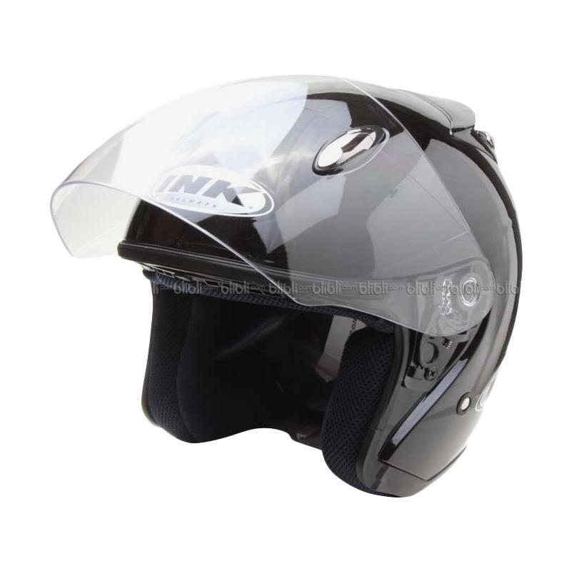 INK Centro Jet Solid BK MET Helm Half Face