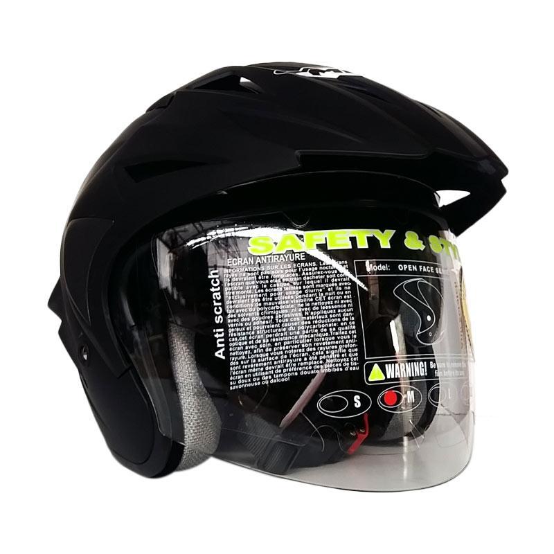 Jual MDS Projet 2 Helm Half Face - Solid Black Doff Online - Harga & Kualitas