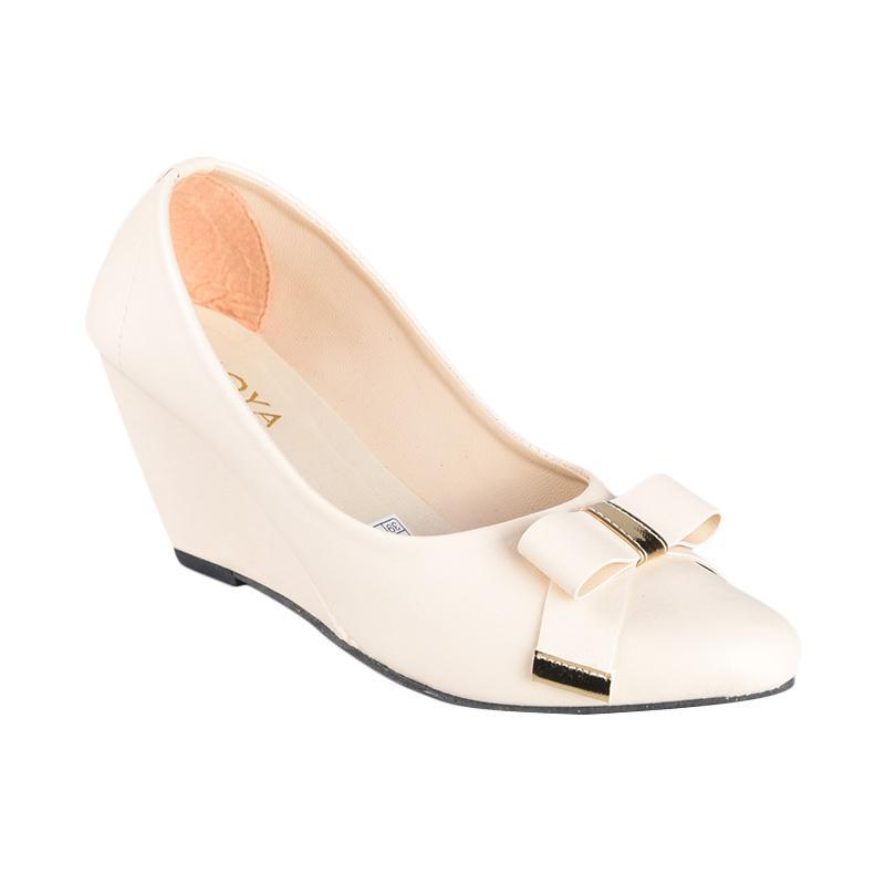 Moya SN-007 Sepatu Wedges Wanita - Cream