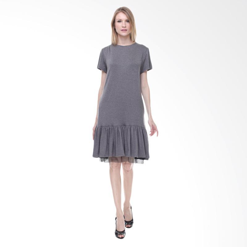 Halcyon Rei Dress in Grey - Abu Tua