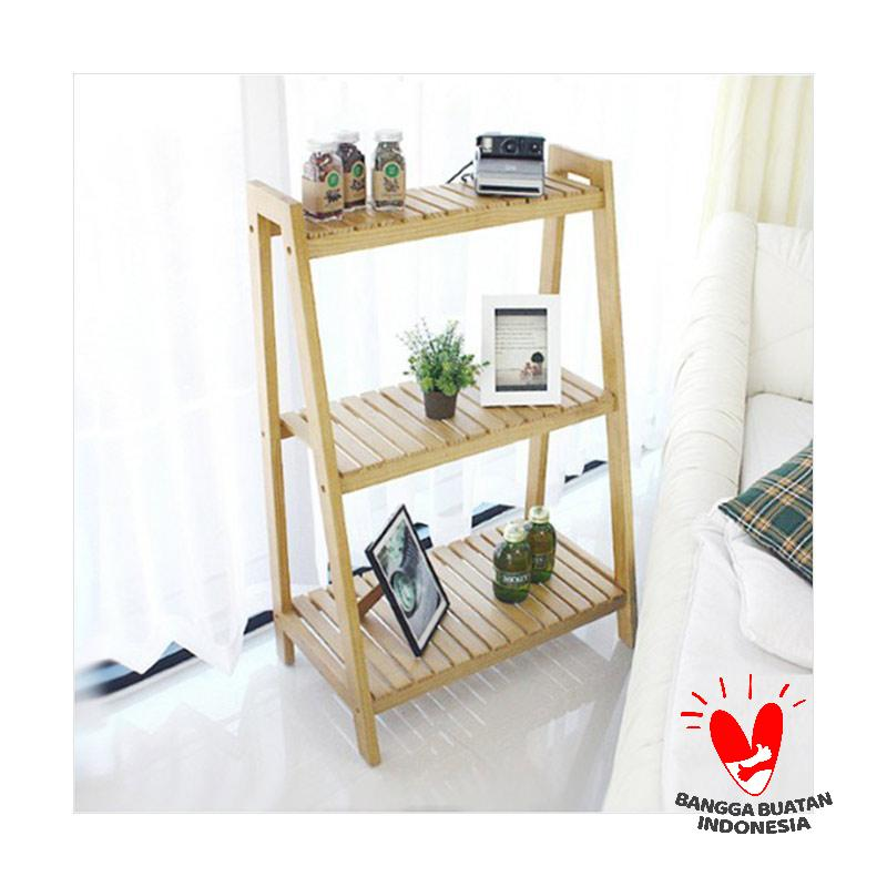 The Olive House Hardwood D I Y Ladder Rack 3T Rak Buku