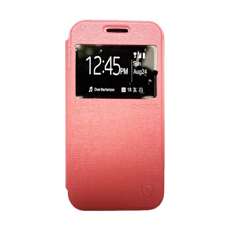 Zagbox Flip Cover Casing for Oppo Joy - Pink