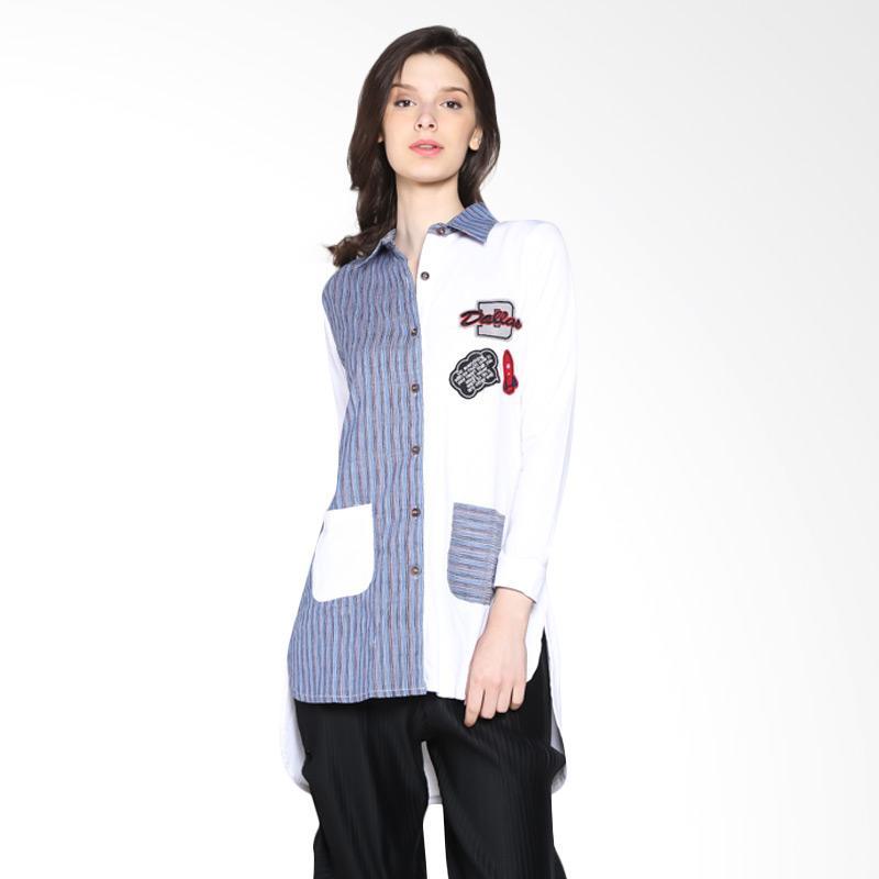 Carte Dallas Block Shirt Kemeja - White