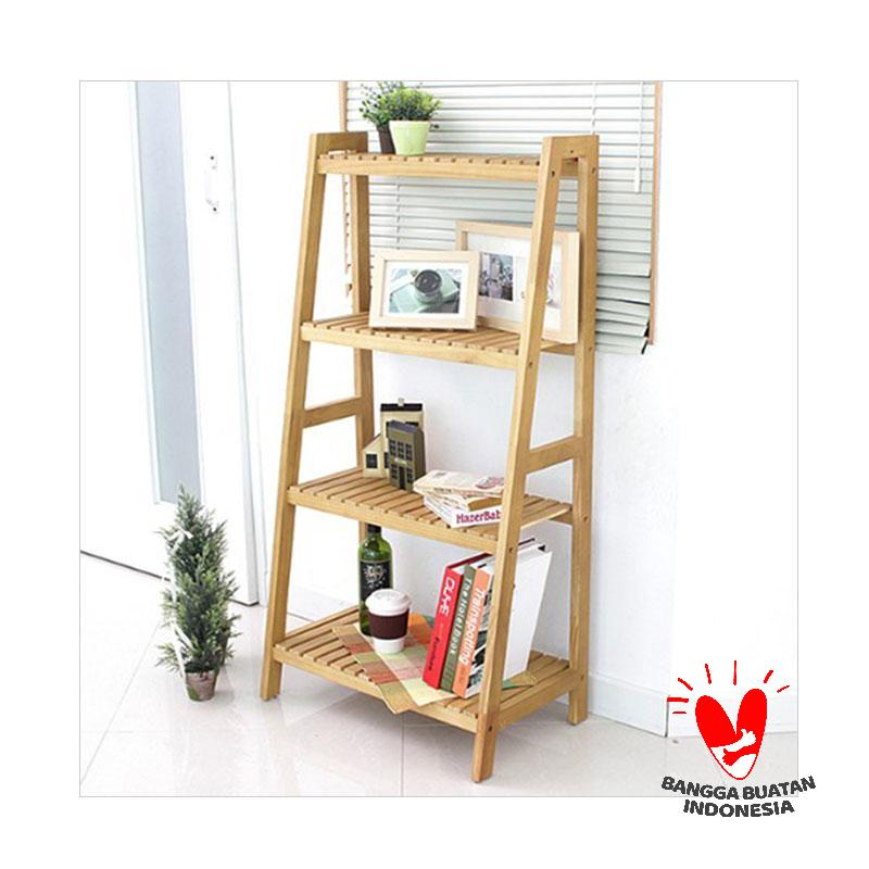 The Olive House Hardwood D.I.Y Ladder-Rack 4T Rak Buku