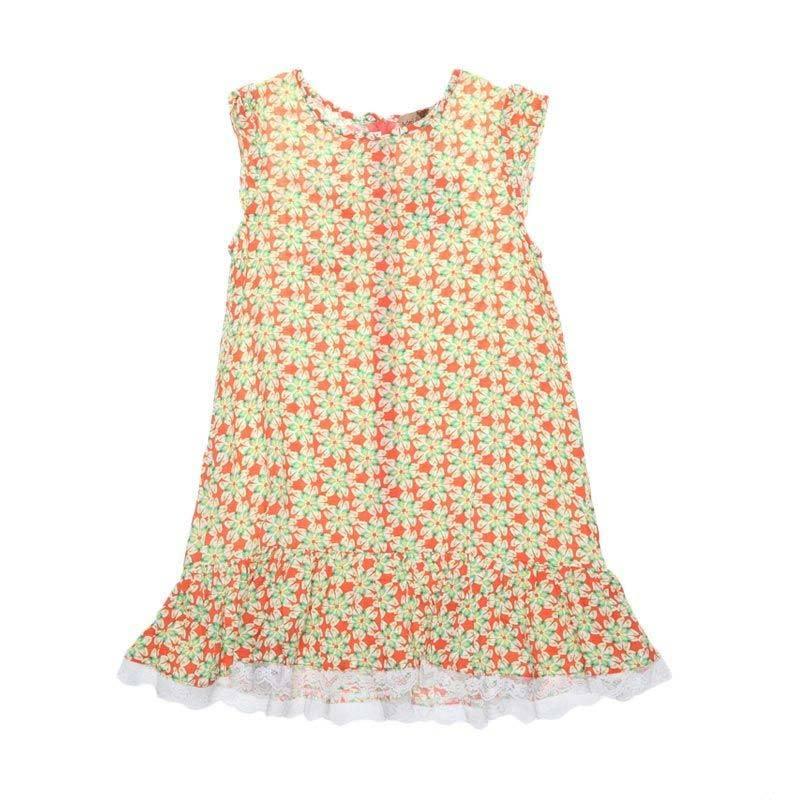 Adel & Audrey 148 Dress Anak - Yellow