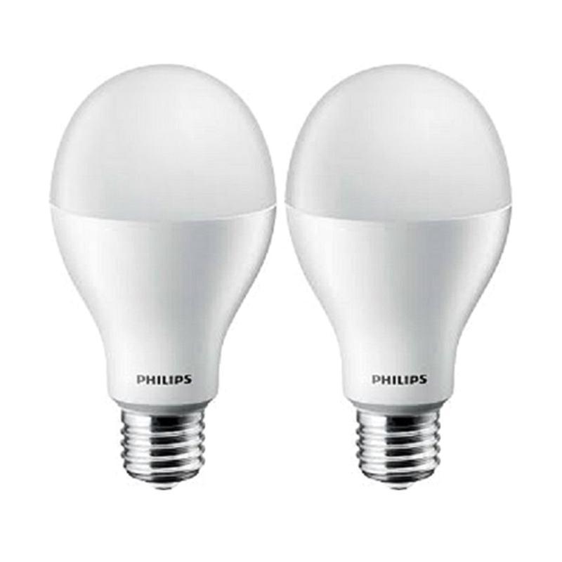 harga Philips Bohlam Lampu LED - Putih [18 W / 18 Watt / 18W / 18Watt - 2 pcs] Blibli.com