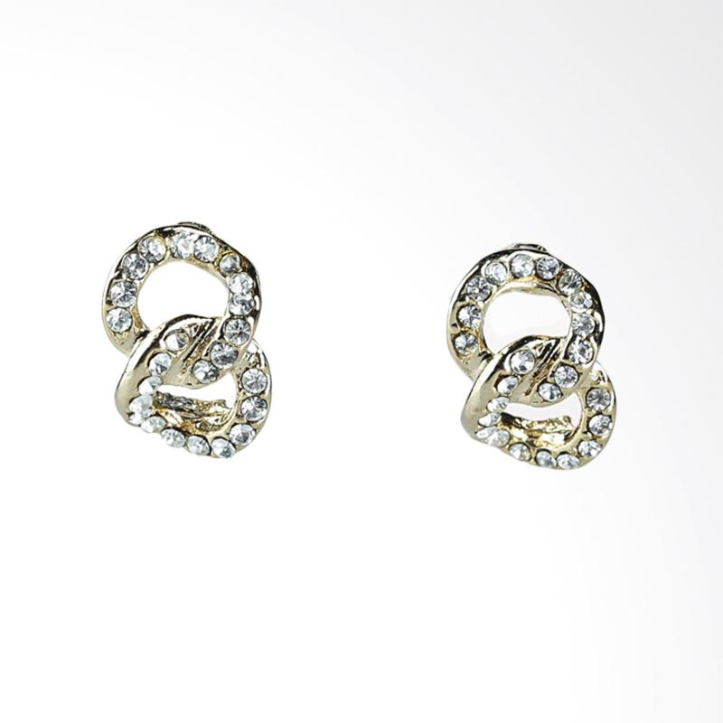 1901 Jewelry Delphinium studs GW.681.HR23 Anting - Gold