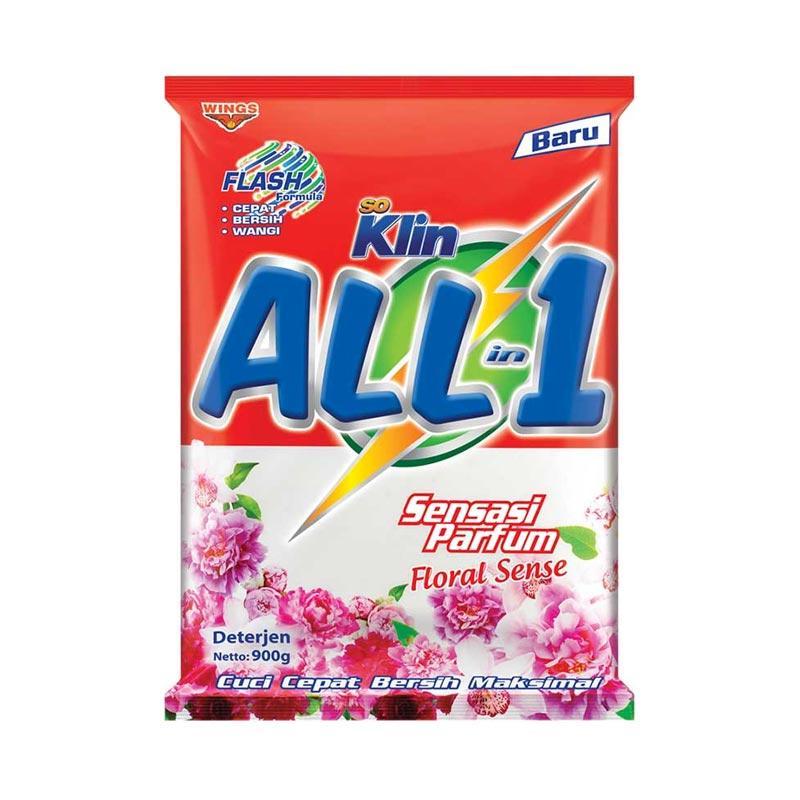 harga So Klin All In 1 Floral Sense Detergent [900 g] 80387 Blibli.com