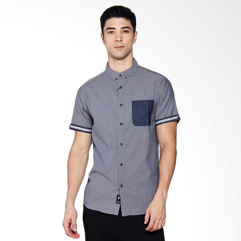 Famo Relaxed Shirt Kemeja Pria - Grey [506031711]