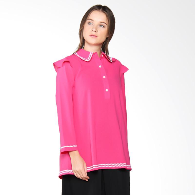 harga Nulu Afifah NL 3062 Blouse - Pink Blibli.com