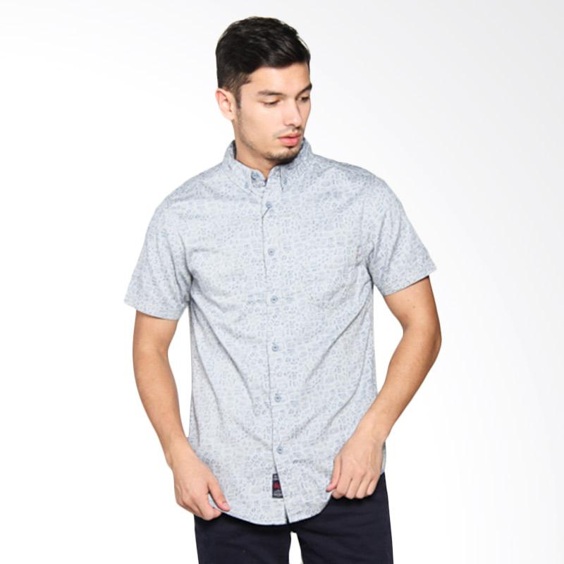 3SECOND Men Shirt Kemeja Pria - Grey 109051711