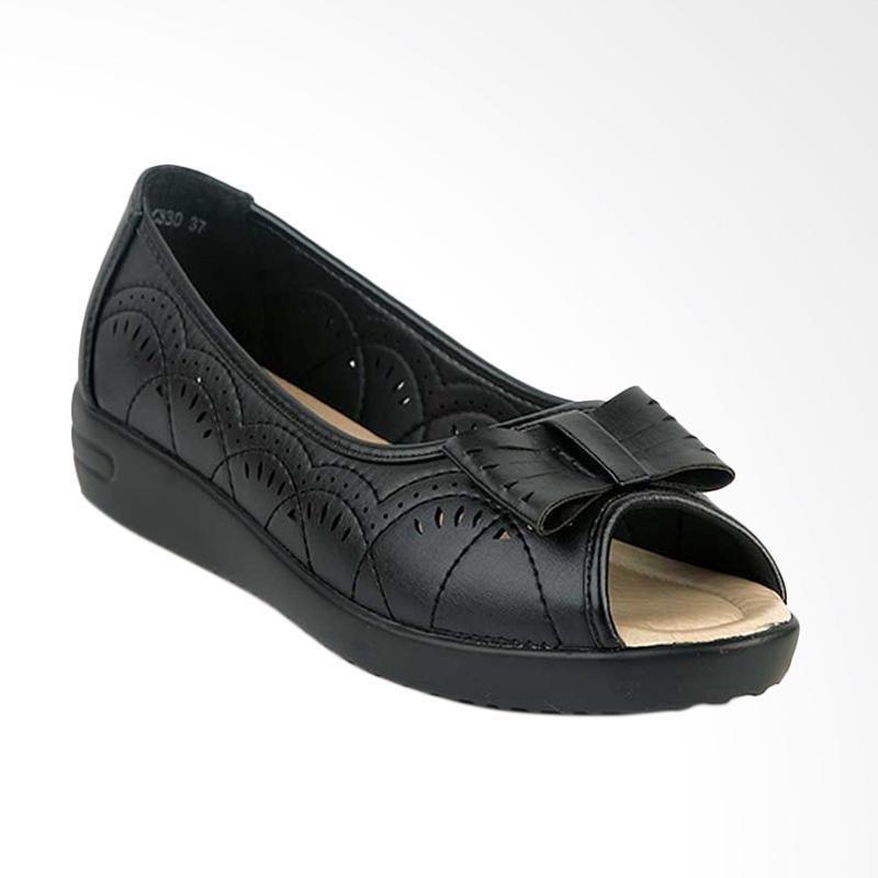 harga Bettina Wedges Sharee Sepatu Wanita - Hitam Blibli.com