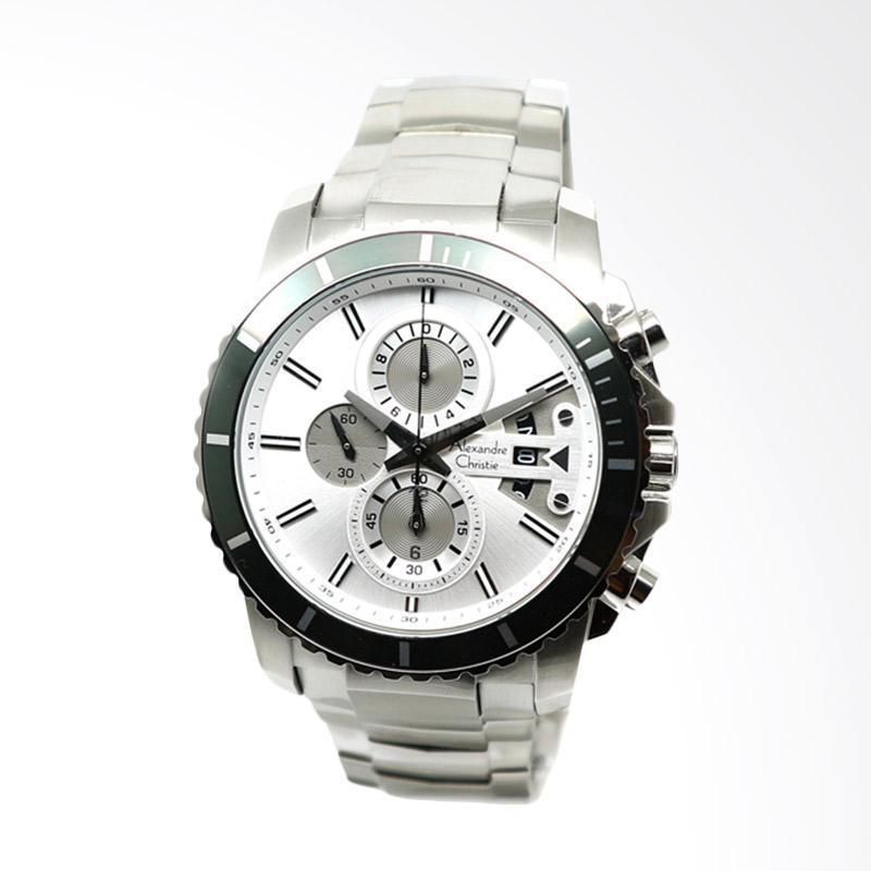 Alexandre Christie Jam Tangan Pria - Silver White [6455]