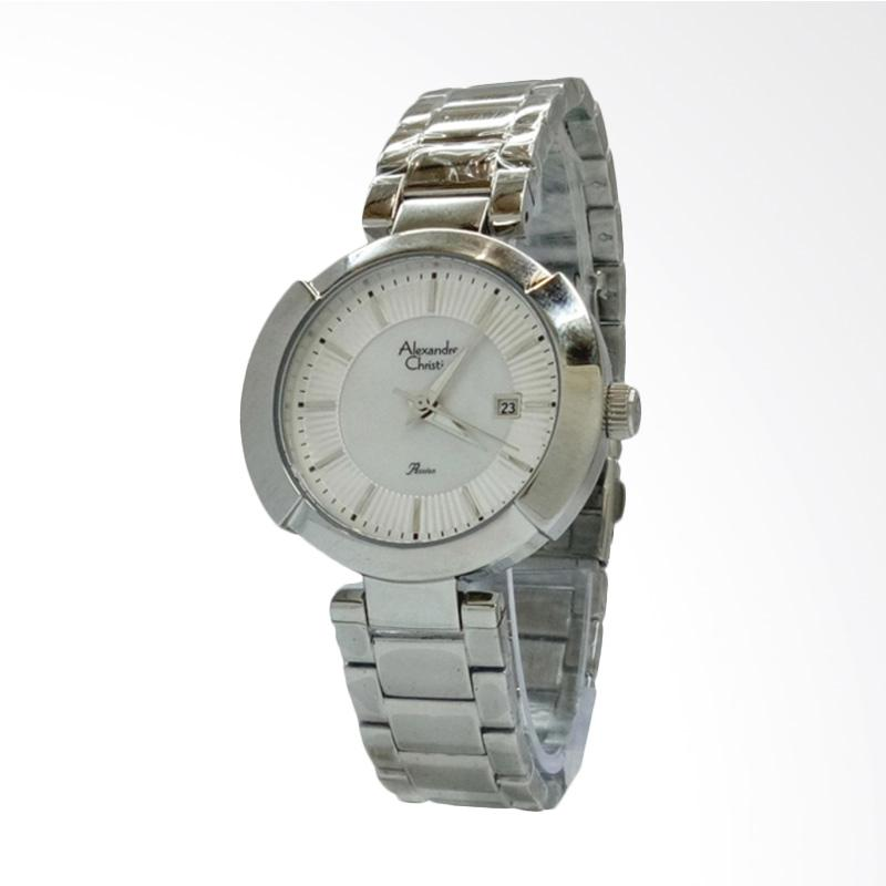 Alexandre Christie 2627 Jam Tangan Wanita - Silver White