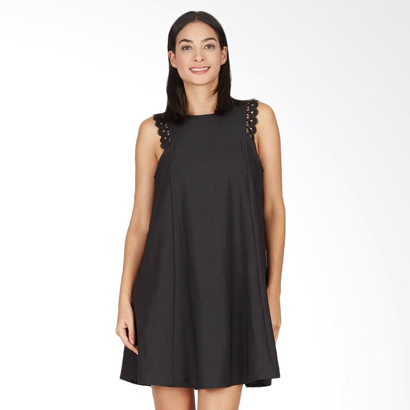 harga Berrybenka GW Krefeld Dress in Wanita - Black Blibli.com