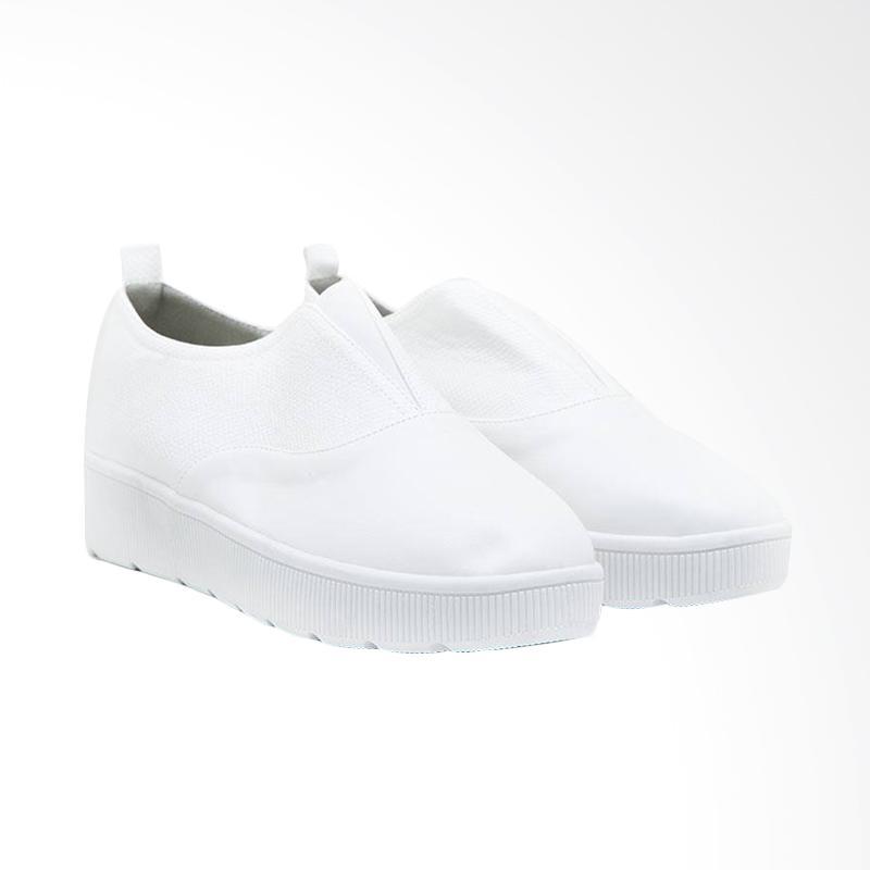 harga Berrybenka Alwina Bynov Sepatu Wedges - White Blibli.com