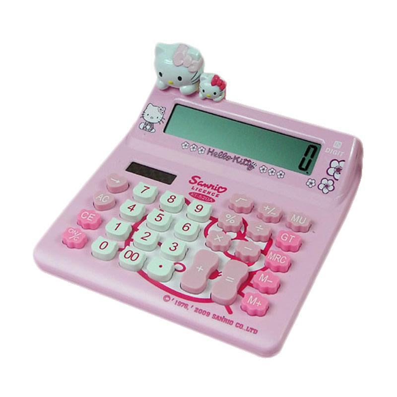 Sanrio KT-520A Hello Kitty Kalkulator - Pink