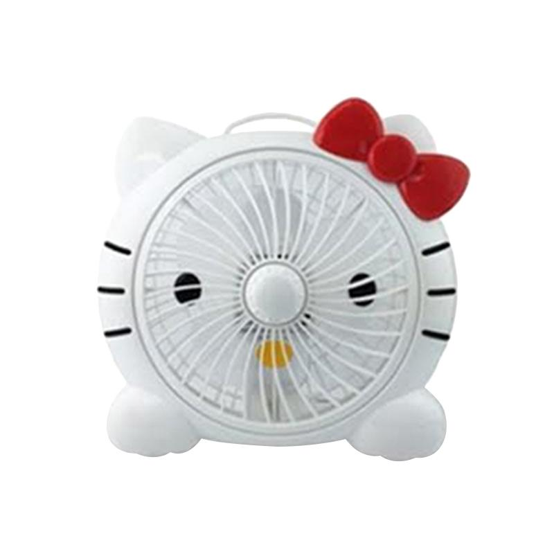 Hello Kitty Head HK Kipas Angin Meja - Red White