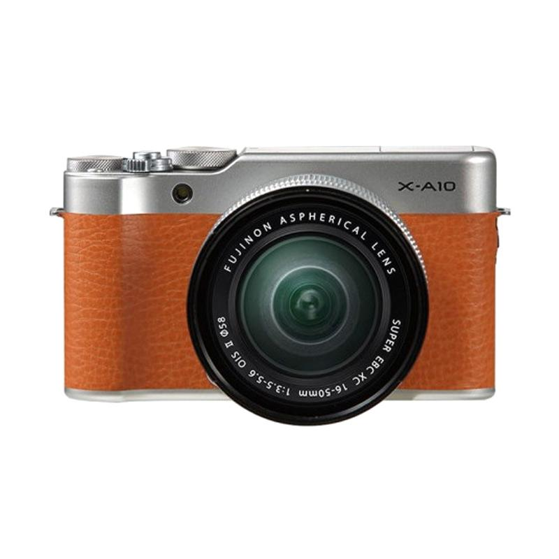Fujifilm X-A10 Kit XC 16-50mm f-3.5-5.6 OIS II Kamera Mirrorless - Brown