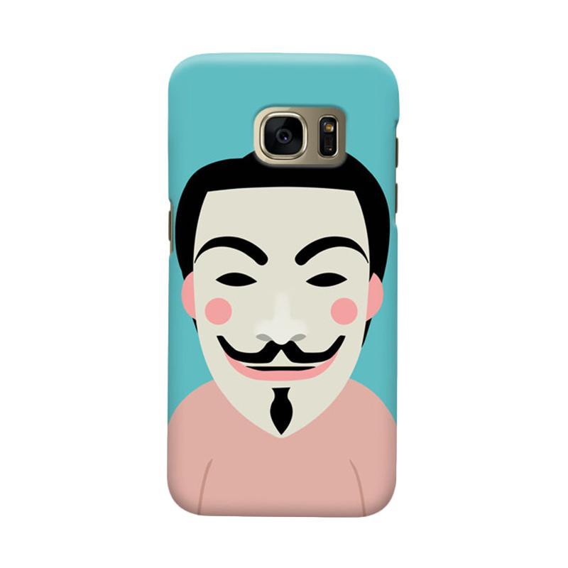 Kelebihan Kekurangan Indocustomcase Anonymous Mask Cartoon Cover Casing for Samsung Galaxy S6 Edge Plus Dan Harganya