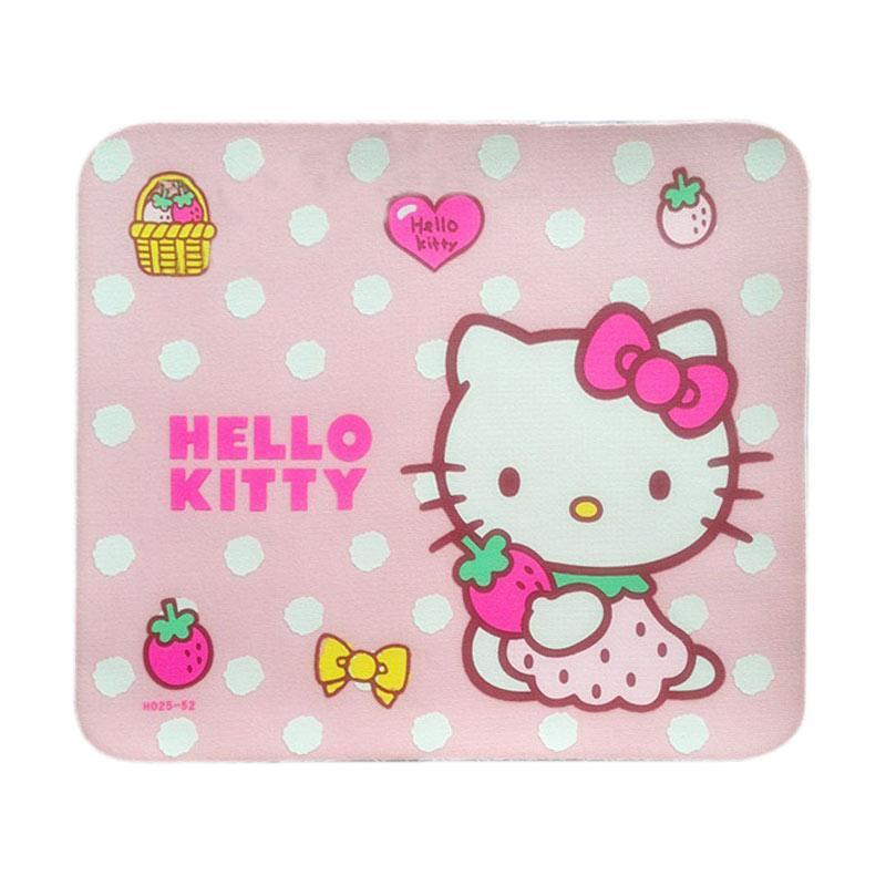 Hello Kitty Square Polka HK Mousepad - Pink