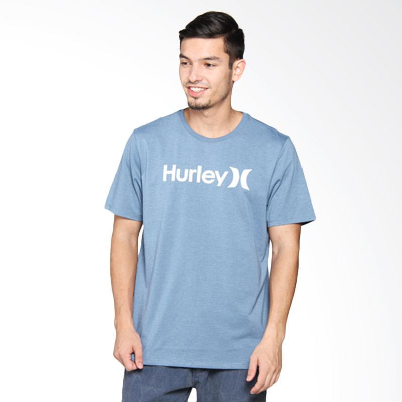 Hurley OO Sea Heather T-Shirt Pria - Ice Jade AMTSPOSH4 IJH