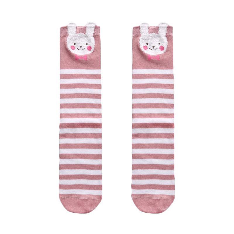 Chloebaby Shop Rabbit Stripe s268d Kaos Kaki Anak